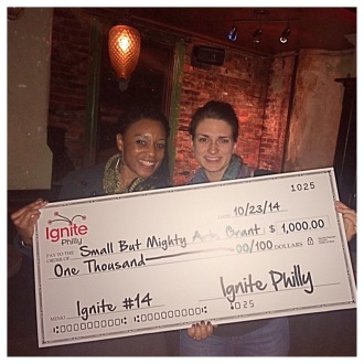 ignite philly14 big check